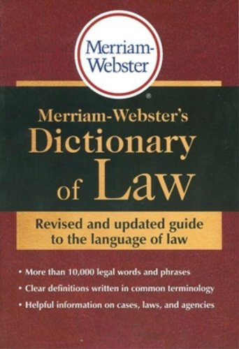 9780877797197: Merriam-Webster's Dictionary of Law
