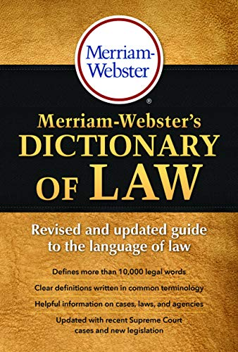 9780877797357: Merriam-Webster's Dictionary of Law, Newest Edition, Trade Paperback