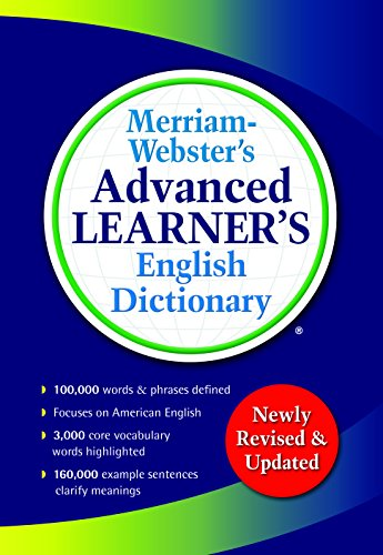 9780877797364: Merriam-Webster's Advanced Learner's English Dictionary, New Edition, 2017 copyright, (Trade paperback)