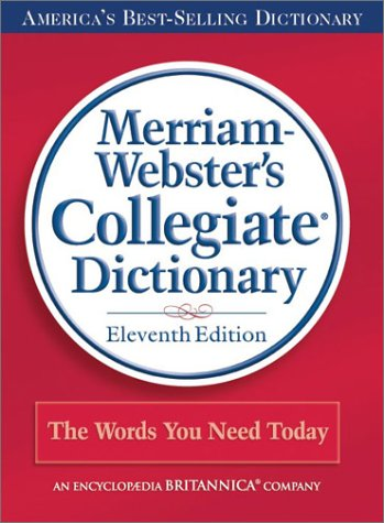 9780877798088: Merriam-Webster's Collegiate Dictionary, 11th Edition (Red Kivar Binding with Jacket)