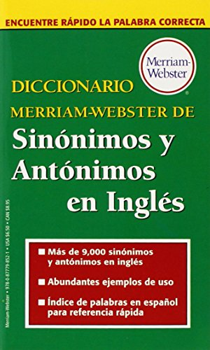 9780877798521: Diccionario Merriam-Webster de Sinonimos y Antonimos En Ingles (Spanish Edition)