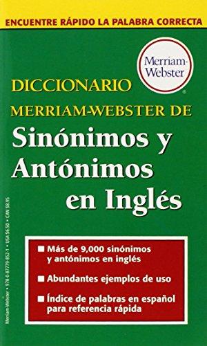 Diccionario Merriam-Webster De Sinonimos Y Antonimos En
