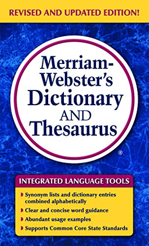 9780877798637: Merriam-Webster's Dictionary and Thesaurus, Newest Edition (c) 2014