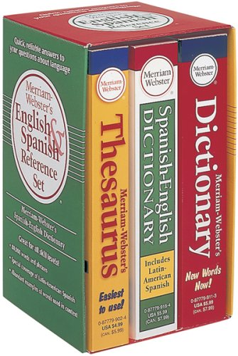 9780877798972: Merriam-Webster's English & Spanish Reference Set