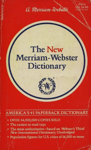9780877799009: Merriam-Webster Dictionary