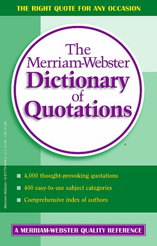 9780877799047: The Merriam-Webster Dictionary of Quotations