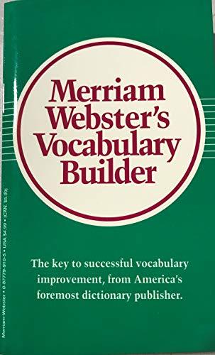9780877799108: Merriam-Webster's Vocabulary Builder
