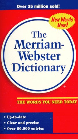 9780877799115: The Merriam Webster Dictionary