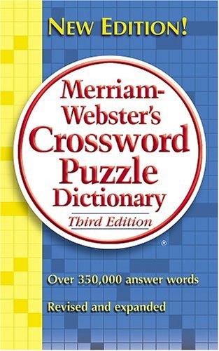 9780877799283: Merriam-webster's Crossword Puzzle Dictionary