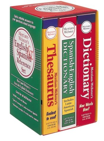 9780877799436: Merriam-Webster's English & Spanish Reference Set
