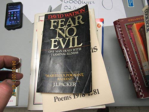 9780877882558: Fear No Evil: One Man Deals With Terminal Illness