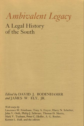 9780878052110: Ambivalent Legacy: A Legal History of the South