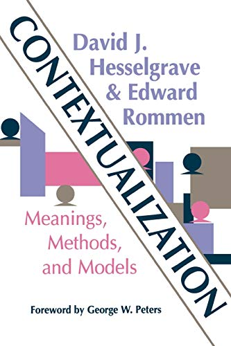 9780878087754: Contextualization: Meanings, Methods, and Models