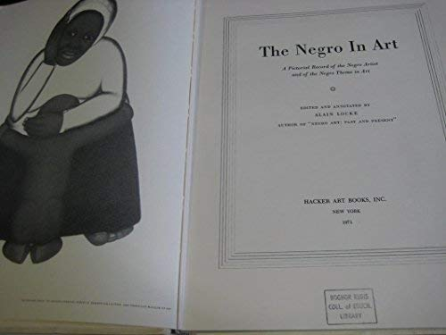 9780878170135: The Negro in Art: A Pictorial Record of the Negro Artist and of the Negro Theme in Art