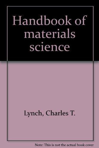 CRC Handbook of Materials Science, 3 Vols: Lynch, Charles T.