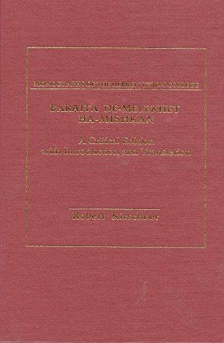 9780878204144: Baraita De-Melekhet Ha-Mishkan: A Critical Edition With Introduction and Translation