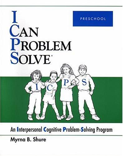 9780878224579: I Can Problem Solve : An Interpersonal Cognitive Problem-Solving Program : Preschool
