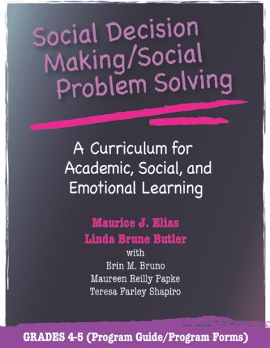 9780878225132: Social Decision Making/Social Problem Solving: A Curriculum For Academic, Social And Emotional Learning: Grades 4-5 (Book and CD)