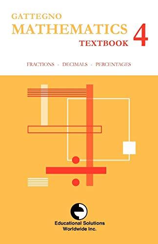 9780878250141: Gattegno Mathematics Textbook 4