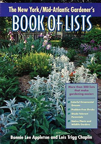 9780878332618: The New York/Mid-Atlantic Gardener's Book of Lists