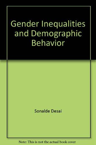 9780878340828: Gender inequalities and demographic behavior