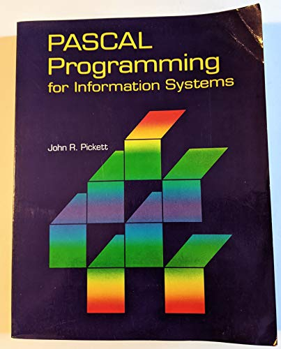 9780878355037: Pascal Programming for Information Systems