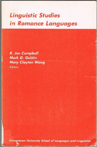 Linguistic studies in Romance languages;: Proceedings