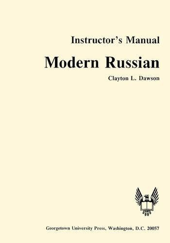 9780878401857: Modern Russian Instructor's Manual