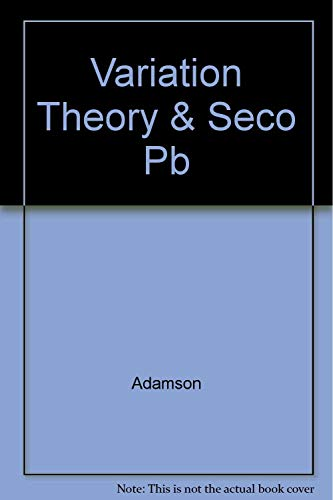 9780878402151: Variation Theory and Second Language Acquisition