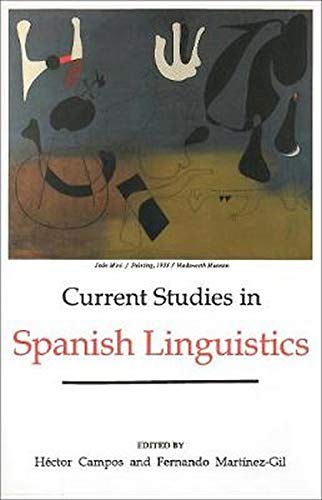 9780878402342: Current Studies in Spanish Linguistics