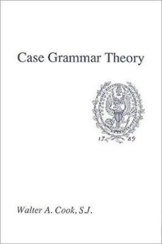 9780878402762: Case Grammar Theory
