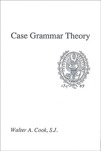 9780878402762: Case Grammar Theory