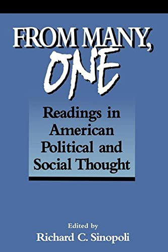 9780878406265: From Many, One: Readings in American Political and Social Thought (Text Teach / Policies)