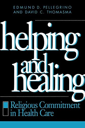 Helping & Healing 9780878406432 Exploring the moral foundations of the healing relationship, Edmund D. Pellegrino and David C. Thomasma offer the health care professional a highly readable Christian philosophy of medicine. This book examines the influence religious beliefs have on the kind of person the health professional should be, on the health care policies a society should adopt, and on what constitutes healing in its fullest sense. Helping and Healing looks at the ways a religious perspective shapes the healing relationship and the ethics of that relationship. Pellegrino and Thomasma seek to clarify the role of religious belief in health care by providing a moral basis for such commitment as well as a balancing role for reason. This book establishes a common ground for believers and skeptics alike in their dedication to relieve suffering by showing that helping and healing require an involvement in the religious values of patients. It clearly argues that religion provides crucial insights into medical practice and morality that cannot be ignored, even in our morally heterogeneous society. Central to the authors' message is the concept of patients' vulnerabilities and the need to help them recover not only from the disease but also from an existential assault on their personhood. They then show how this understanding can move caregivers to view their professions as vocations and thereby change the nature of health care from a business to a community of healing. Physicians, nurses, administrators, clergy, theologians, and other health professionals and church leaders will find this volume helpful for their own reflections on the role of religion in the health care ministry and for making a religious commitment integral to their professional lives.