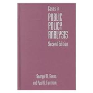 9780878407675: Cases in Public Policy Analysis