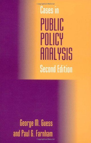 9780878407682: Cases in Public Policy Analysis, 2nd Edition