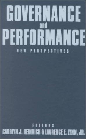 9780878407989: Governance and Performance: New Perspectives