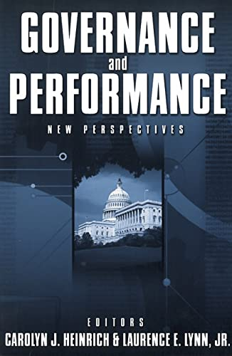 9780878407996: Governance and Performance: New Perspectives
