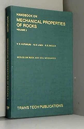 Handbook on Mechanical Properties of Rocks (Series: Lama, R. D.