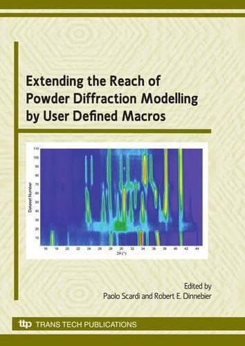 9780878492619: Extending the Reach of Powder Diffraction Modelling By User Defined Macros