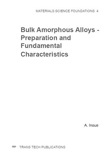 9780878497959: Bulk Amorphous Alloys: Preparation and Fundamental Characteristics (Materials Science Foundations,)