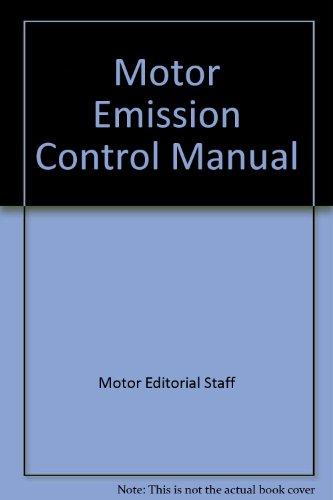 9780878515608: Motor Emission Control Manual