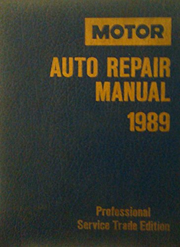 9780878516704: Motor Auto Repair Manual/1983-89/Professional Service Trade Edition (Motor Auto Repair Manual Vol 1 Chassis)