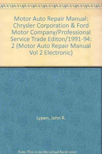 Motor Auto Repair Manual: Chrysler Corporation &: Marian A. Maasshoff,