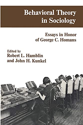 peter blau and george homans views on the effects of exchange on social behavior Intro to sociology - chapter 1 john c macionis study play sociological perspective the special point of view of sociology that sees general patterns of society.