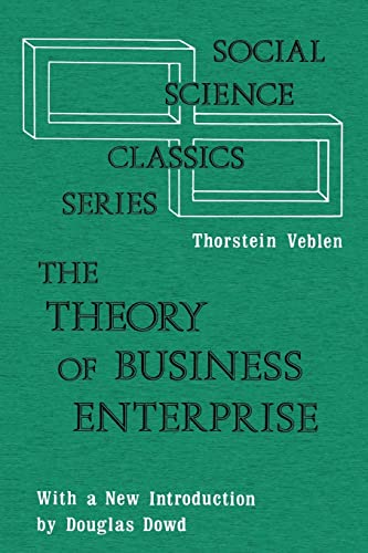 9780878556991: The Theory of Business Enterprise