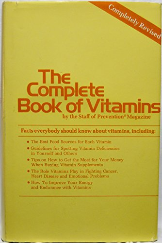 The Complete Book of Vitamins: Charles Gerras, Joseph