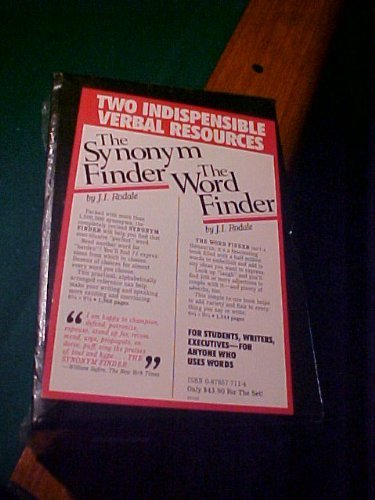 Synonym-Word Finder, 2 Vol. Set: Rodale, J. I.