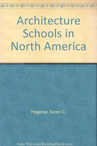 9780878660698: Architecture Schools in North America