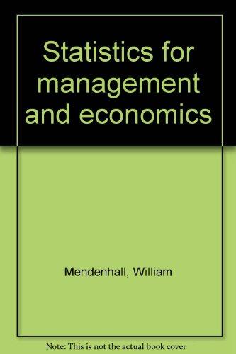 Statistics for management and economics: Mendenhall, William